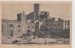 Cartolina - Salemi (Trapani) Piazza Umberto I E Caserma Dei R. Carabinieri - Trapani