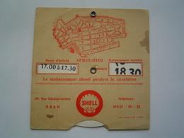 DISQUE STATIONNEMENT AUTOMOBILE 1960 : ORAN - ALGERIE / STATION SERVICE SHELL - Publicités