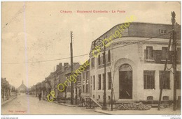 02. CHAUNY . Boulevard Gambetta . La Poste . - Chauny