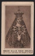 627 Santino Antico Madonna Addolorata Da Napoli - Religione & Esoterismo