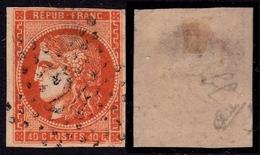 France N° 48 Obl. étoile 24 (RARE)  Signé Calves - Cote 650 Euros - 1870 Emisión De Bordeaux