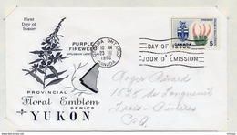 L4E085 CANADA FDC Fireweed Epilobe A Feuille étroite Epilobium Latifolium Yukon 5c Ottawa 23 03 1966 - 1961-1970