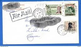 L4E177 CANADA Air Mail Cover From Cap De La Madeleine P.Q. To Lille France 15c  09 12 1962 - 1953-.... Regering Van Elizabeth II