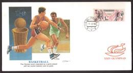 IK66      Czechoslovakia FDC 1-2-1988 XXIV Basketball With Cachet - Basket-ball