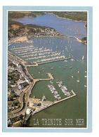 La Trinite Sur Mer (56) Le Port De Plaisance Et Le Pont Kerisper    ( Vue Aerienne ) - La Trinite Sur Mer