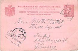 Briefkaart Niederl.Indie 1892 AKS Danzig - Niederländisch-Indien