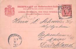Briefkaart Niederl.Indie 1895 AKS - Niederländisch-Indien