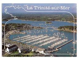 La Trinite Sur Mer (56470) Le Port De Plaisance Et Le Pont Kerisper    ( Vue Aerienne ) - La Trinite Sur Mer