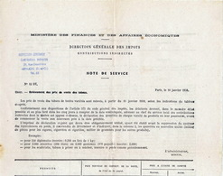 Relèvement Des Prix De Vente Des Tabacs 1959 4 Pages (24x32) TB état - Documentos