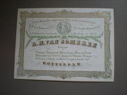 ROTTERDAM - FABRIQUE DE CERUSE, TOURNESOL,BLEU D'AZUR - PORCELEINKAART 11 X 8.3 - Rotterdam