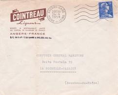 49-Enveloppe Publicitaire  Cointreau Liqueur ..Angers..(Maine-et-Loire) 1958 - France