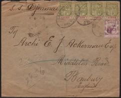 MAURITIUS - REGISTERED COVER 1911 To  BANBURY UK - SHIP SS DJEMMAH - LONDON- KA08 - Mauritius (...-1967)