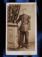 Photo CDV Bourens à Nancy - Militaire En Pied Du 69e D'infanterie Circa 1875 L301 - Fotos