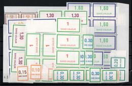 France Lot De 86 Timbres Fictifs Dont 10 Numéros Différents Avec Bloc, Paire, Bande , Bord De Feuille Tous ** MNH - Phantomausgaben