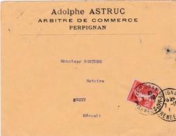 66-Enveloppe Publicitaire  A.Astruc..Arbitre De Commerce..Perpignan.(Pyrenées-Orientales)  1910 - Francia
