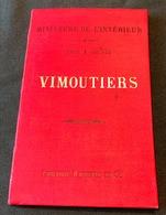 Carte Topographique Dressée Par Ordre Du Ministre De L'Intérieur Et éditée Par Hachette - VIMOUTIERS, 1890 - Cartes Géographiques