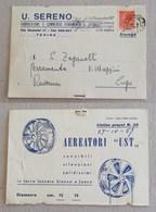 """Cartolina Postale Pubblicitaria """"Aeratori UST"""" U.Sereno Torino Per Lugo - 26/10/1957 - 6. 1946-.. Repubblica"""