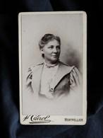 Photo CDV  Cairol à Montpellier  Portrait Femme Souriante - CA 1895 - L302 - Fotos