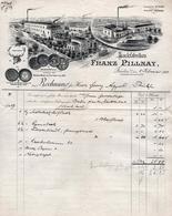 Facture De Lackfabriken Franz Pillnay De Dresden Du 05.02.1909 - Médaille D'Or De Dresden 1899 - Fabrik Marke - Historische Documenten