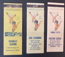 3 États Unis Matches Matchbox Tennis New Albany Hartford Kalamazoo Etc.   #Werbe1792 - Boites D'allumettes