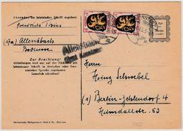 FZ - Allensbach ü. Konstanz Landpost-L2 A. 6 Pfg. GA-Karte+Zusatz N. Berlin 1946 - Germany