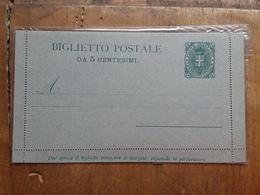 REGNO - Biglietto Postale Da 5 Cent. Nuovo - Integro + Spese Postali - 1878-00 Umberto I