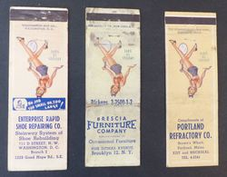 3 États Unis Matches Matchbox Tennis  Portland Brooklyn Washington  Etc.   #Werbe1795 - Boites D'allumettes