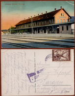 BOSNIA-AUSTRIA, SARAJEVO-RAILWAY STATION/BAHNHOF, Jewish Publisher:S.Kattan, ZEPCE-SARAJEVO CENSORED PPCARD 1919 RRR!! - Bosnie-Herzegovine