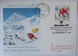 Ski WM 1982, Sonderkarte Postbeförderung Durch Weltmeister Olympia-Sieger (5393) - Wintersport (Sonstige)