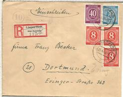 ALEMANIA OCUPACION CERTIFICADA üBER RADEBERG A DORTMUND 1946 - American/British Zone