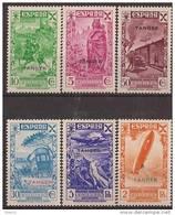 TABE6-LAB3959TEUESC.Transport E. Historia Del Correo.TANGER ESPAÑOL BENEFICENCIA 1938 (Ed  6/11**) Sin Charne EXCELENTE - España