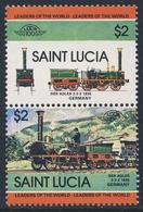 St. Lucia 1984 Mi 682 /3 YT 666 /7 SG 725 /6 ** Der Adler 2.2.2 (1835), Germany - Leaders Of World Railway - Treni