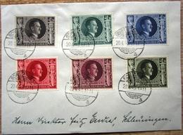 DR Hitler Mi.Nr. 844-849 Auf Satzbrief, Je Einzeln Gestempelt Schleusingen - Storia Postale