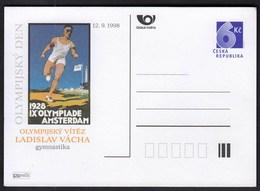Czech Republic 1998 / Ladislav Vacha, Gymnastics, Poster, Olympic Games Amsterdam 1928 / Postal Stationery 6 Kc - Summer 1928: Amsterdam