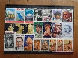 STATI UNITI Anni '80/'90 - 22 Francobolli Differenti Nuovi ** (sottofacciale) + Spese Postali - Stati Uniti