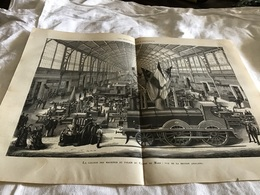Les Merveilles De L'exposition à La Galerie Des Machines Au Palais Du Champ De Mars Vue De La Section Anglaise - Vieux Papiers