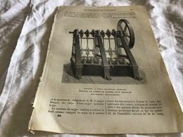 Une Page Les Merveilles De L'exposition Appareil à Force Centrifuge Ordinaire Appareil De Pompe De Presse Pour Desservir - Vieux Papiers