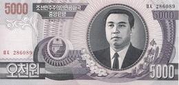 North Korea P.46a 5000 Won 2002 Unc - Korea, North