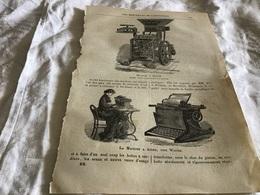 Les Merveilles De L Exposition  Machine A Mouler Machine A écrire - Vieux Papiers