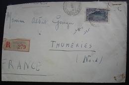 Djibouti  Côte Française Des Somalis 1932 Lettre Recommandée Pour Thumeries (Nord) Dallay N°98 - Lettres & Documents