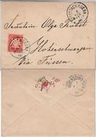 Bayern - Rottach-Egern 1898, Damenbrief M. Zierprägung N. Hohenschwangau - Bayern