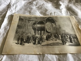 Les Merveilles De L Exposition Le Tonneau Monstre De La Section Hongroisi - Vieux Papiers