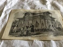 Les Merveilles De L Exposition Chalet En Bois Courbé De La Maison Kohn  Dans La Section Autrichienne - Vieux Papiers