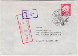 BRD - 50 Pfg. I&T, Brief N. ÖSTERREICH/Nachporto Welzheim - Klagenfurt 1976 - Lettere