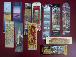 Lot De 12 Marque-page - Divers Tourisme Voyages Destinations Régions Villes - Bookmarks - Bookmarks