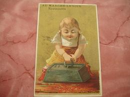 Fillette Halterophilie Au Marche Lenoir  Robe Et Costumes  Chromo - Trade Cards