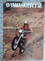 PUBLICITE PROSPECTUS 4 PAGES MOTO YAMAHA 360 TRAIL RT2 GP MOTO NANTES 29.7 X 21 CM - Advertising
