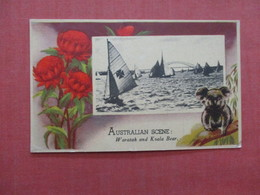 Australia Scene Border Type--------------Waratah & Koala Bear  Ref 3952 - Australie