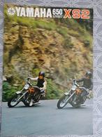 PUBLICITE PROSPECTUS 4 PAGES MOTO YAMAHA 650 STREET XS2 GP MOTO NANTES 29.7 X 21 CM - Advertising