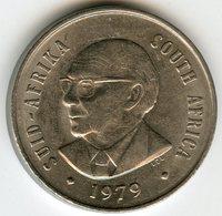 Afrique Du Sud South Africa 20 Cents 1979 Président Diederichs KM 102 - Afrique Du Sud
